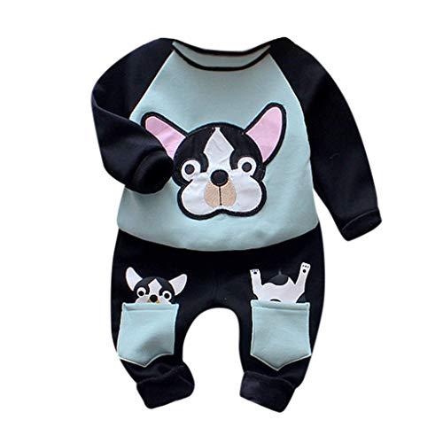 Hui.Hui Sweat-Shirt pour Bébé Pull à Col Rond Imprimé Sweats Manches Longues Hauts et Pantalons Tenues de Noël Cadeau Hiver Chaud Vêtements