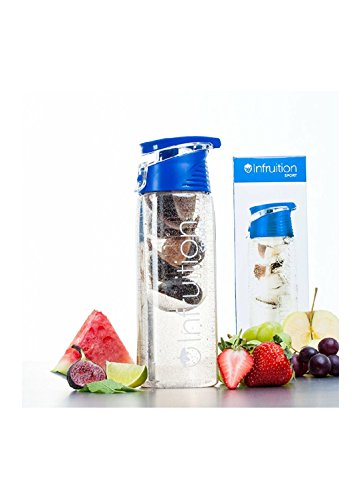 Red Fruit Infusing Water Bottle with Fruit Infuser by Wimports | By Wimports 8 colours TM