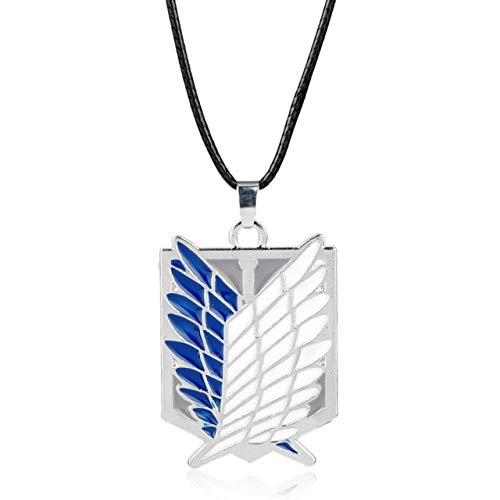 Anime Attack On Titan Necklace Wings Of Liberty Pendant Necklace Art Crafts Gifts Hanging Ornanment Silver