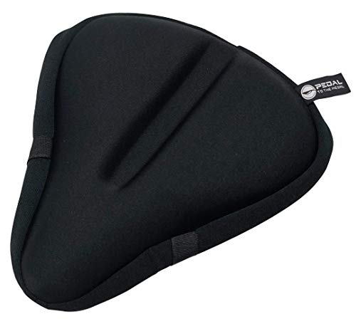 Pedal To The Medal Gel Bike Seat Cover - Extra Soft and Wide Gel...