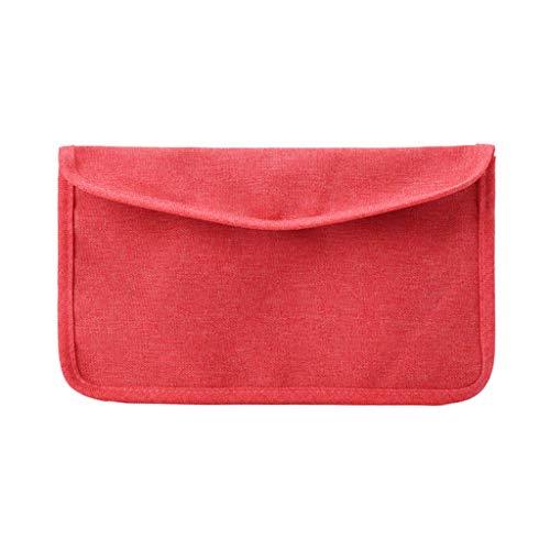 99native Maskenbox Tragbare Face Cover Aufbewahrungsbox Kunststoffbox,Gesichtsmasken Organizer Staubdichter Faltbarer Reinigungsbeutel Behälterbeutel,Schutzhülle Maskenhalter Organizer (Red)