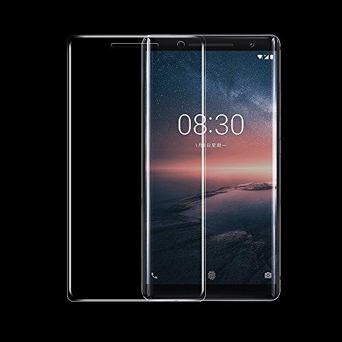 ONICO Bildschirm Schutzfolie für Nokia 8 Sirocco,TPU Selbstheilend Anti-Bläschen 3D-Gebogenen Volle Bedeckung Folie kompatibel mit Nokia 8 Sirocco [2 Stück]