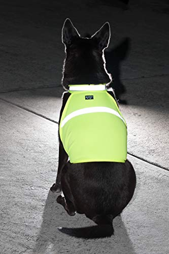 2PET Dog Hunting Vest and Safety Reflective Vest - Used for High Visibility - Protects Pets from Cars & Hunting Accidents in Both Urban and Rural Environments - Large Beaming Yellow