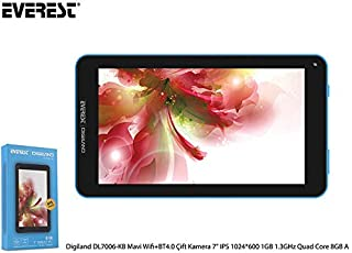 Everest Digiland DL7006-KB Mavi Wifi + BT4.0 Çift Kamera 7 IPS 1024*600 1GB 1.3GHz Quad Core 8GB Android 7.0 Tablet Pc
