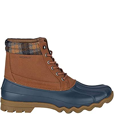 Sperry Men's, Brewster Waterproof Boot TAN Navy 9.5 M