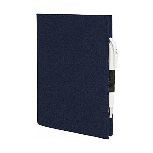 EQT-FASHION Premium Leseschutz Filz Hülle Buch für A5 Notizbücher Filz Buchhülle edler Einband blau