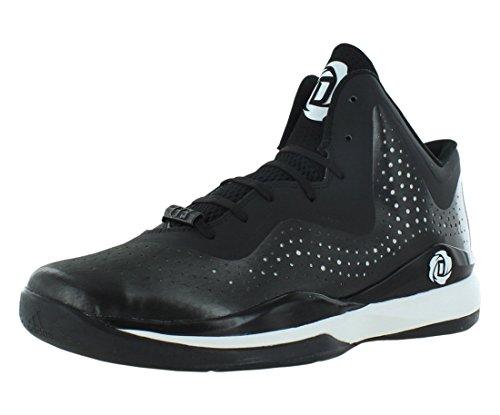 adidas Rose 773 III Herren Basketballschuh, Mehrfarbig - schwarz / weiß - Größe: 38 EU