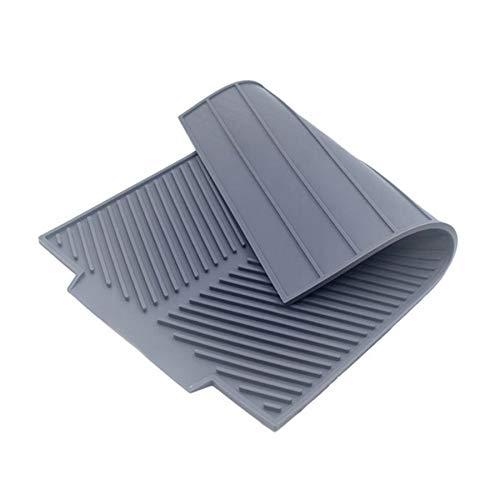 Jcevium Alfombrilla de silicona para secado de platos, plegable, rectangular, para desagüe