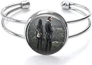 The Walking Dead Rick Grimes and Michonne Silver Plated Cuff Bracelet