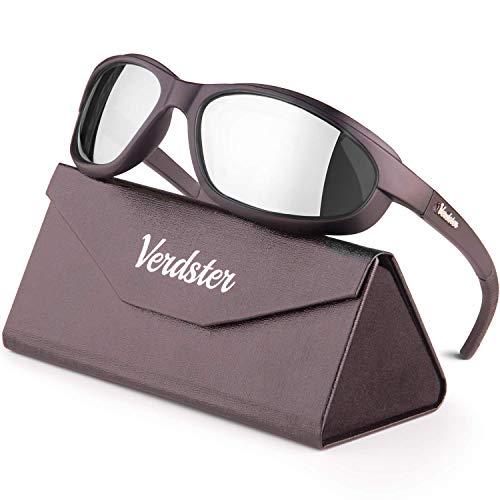 Verdster Airdam Polarisierte Motorrad Sonnenbrillen - ideal zum Fahren - UV geschützter, verbesserter, komfortabler, faltbarer Rahmen