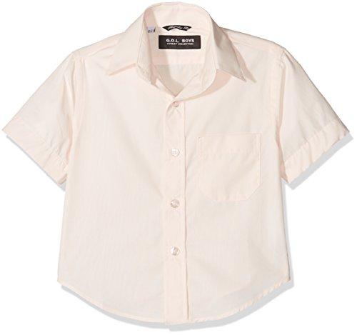 G.O.L. Jungen Kurzarm Kentkragen Hemden, Elfenbein (Champagner 60), 128