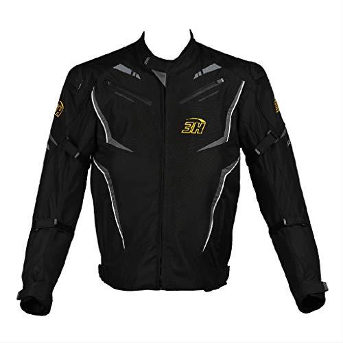 HHH SPORTS WEARS Giacca Da Moto Uomo Con Slider 3H#MEDRID, impermeabile, Protezioni CE spalle & gomiti (S)