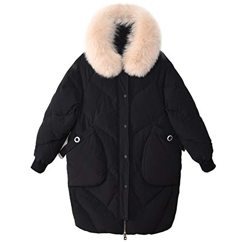 ZEIYUQI dames jas winter winterjas lange donsjas outwear winter warm trenchcoat losse donsjas van witte eend