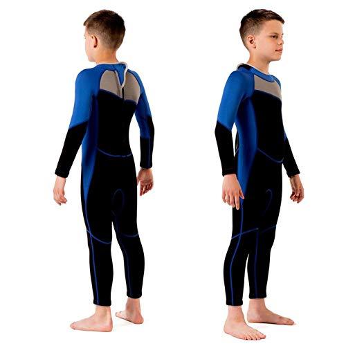 FOLOSAFENAR Combinaison néoprène garçon Manches Longues épaisseur 2,5 mm, pour la plongée en apnée sur a Crochet et Boucle à l arrière(4 Yards, M125)