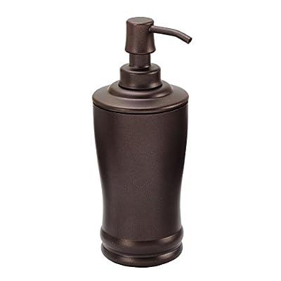 iDesign Olivia Metal Tall Pump, Liquid Soap Dispenser Holds 8 Oz. for Bathroom, Kitchen Sink, Vanity, Bronze