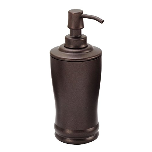 InterDesign Olivia Tall Liquid Soap & Lotion Dispenser Pump for Kitchen or Bathroom Countertops, Bronze
