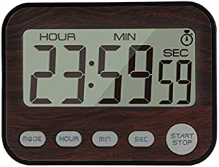 Jayron Digital Timer Alarm Clock Kitchen Timer Cooking Timer Countdown and Count Up Timer (walnut)