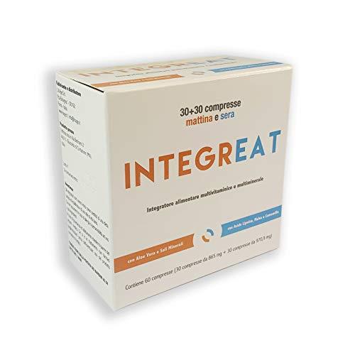 IntegrEat integratore alimentare pazienti bariatrici 60 compresse - Multivitaminico e multiminerale a doppia formulazione, mattina e sera
