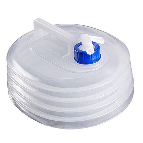 Hearthrousy - Bidón de agua de 3 l plegable para coche, con grifo y bolsa de agua portátil, sin BPA, de plástico, para camping y actividades al aire libre