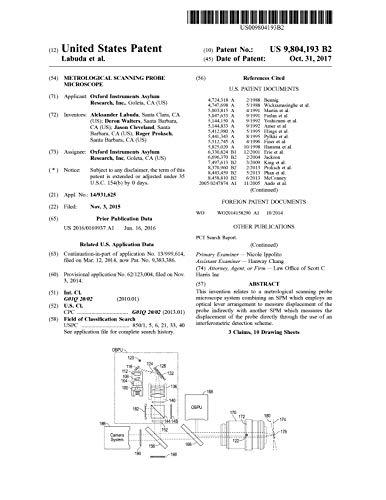 Metrological scanning probe microscope: United States Patent 9804193