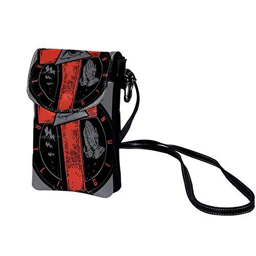 Veckgeng Süße leichte umhängetasche Damen und Herren &mädchen Schule kleine Sport Bag umhängetasche Schön Crossbody Sack Functional Purse Kunst-Augen 19x12x2cm