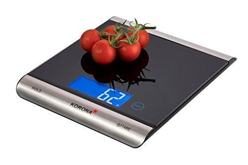 Korona Finja 70230 - Báscula digital de cocina (hasta 15 kg), color negro