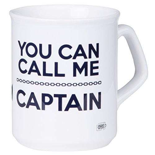 Kaffeetasse für Kapitäne You CAN Call ME Captain mit maritimen Anker Design für Segler und Boot Liebhaber - spülmaschinenfest aus Keramik - von MUGSY.de