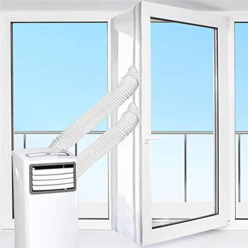 Fensterabdichtung Klimaanlage, 400CM Fensterabdichtung für Mobile Klimageräte, Klimaanlagen, Wäschetrockner, Anbringen Dachfenster, Flügelfenster