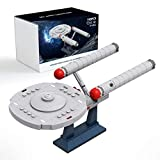 Star Starships The Official Enterprise Building Sets,NCC-1701 Model Kit,Collection Famous Movie Building Blocks,Creative Gift for Star Trek Fans(199 PCS)