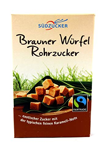 Südzucker Brauner Würfel Rohrzucker Fair Trade, 10er Pack (10x500 g)