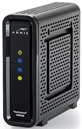 Arris Touchstone CM8200A DOCSIS 3.1 Ultra Fast Cable Modem 32X8 Gigabit (Black) (Renewed)