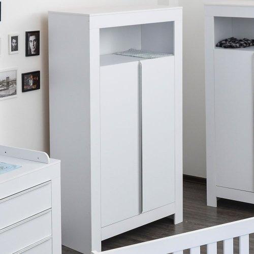 Kleiderschrank Babyzimmer Kinderzimmer Schrank weiß Kleiderschrank Felix 2-türig