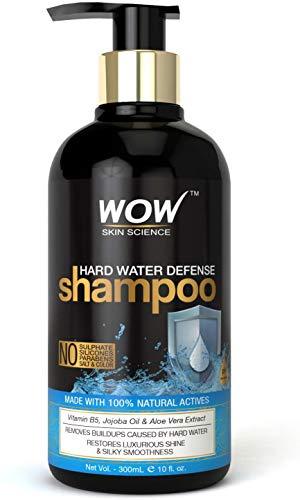 Glamorous Hub WOW Skin Science Champú de defensa contra el agua dura sin sulfato, parabenos, siliconas, sal y color, 300 ml (el embalaje puede variar)