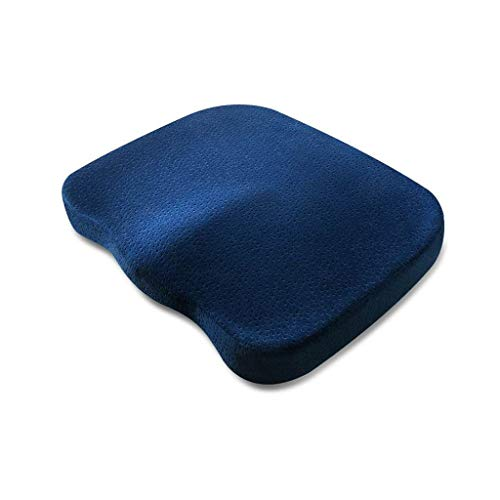 perfk Home Memory Foam - Cojín de Asiento ortopédico ventilado para automóvil y Silla de Ruedas Funda Lavable y Transpirable - Armada