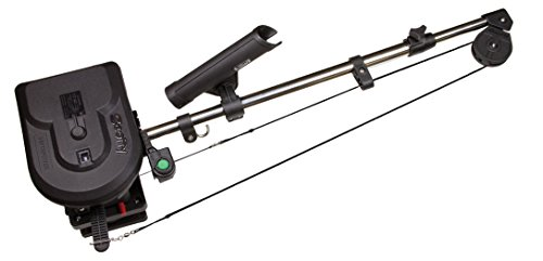 Scotty #1106B Depthpower Electric Downrigger w/ 60-Inch Telescopic Boom & Swivel Base, Rod Holder, Braided Line