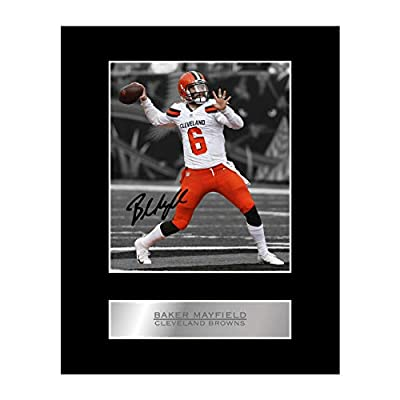 Baker Mayfield Signed Mounted Photo Display Cleveland Browns #05 NFL Printed Autograph Gift Picture Print