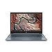 "HP Chromebook 15.6"" Full HD 1920 x 1080 Touchscreen Intel Core i3-8130U Intel UHD Graphics 620 4GB SDRAM 128GB eMMC Audio by B&O Ceramic White/Cloud Blue Backlit Keyboard Chrome OS (Renewed)"