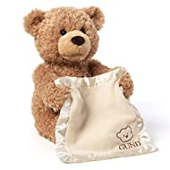 It will Play Peek a Boo with your Baby Bear lift the blanket to hide while talking saying 'you can't see me' and 'where am I' before pulling the blanket down to reveal his face saying 'here I am' Will keep your baby entertained as very realistic and ...