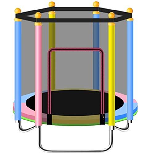Trampolines Trampolin Gimnasia Te-Sports,Trampolín De Interior para Niños, Cama Plegable Plegable De Interior,Cama De Salto De Fitness con Red Protectora (Color : Multicolor, Size : 120cm)
