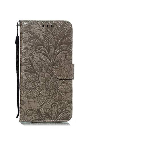 Funda tipo cartera para Huawei Y5 Y6 Y7 2019 P Smart Z 2020 P30 Pro P40 Lite Y5P Y6P Y7P Honor 9A 10 Lite 9 10I 8A 8S 8X 9X cobertura teléfono Gray-P30