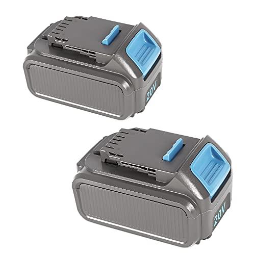 TOMAPEX 20V 6.0Ah Replacement for DeWalt Battery DCB207 DCB206 DCB205 DCB204, 2-Pack Lithium Ion Batteries Compatible with Dewalt 20V Cordless Power Tools DCB205 DCB200 DCB180 DCD985B DCD771C2