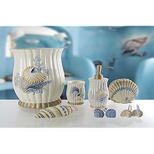 41o4RqNHe2L._SS300_ Coastal & Beach Bathroom Accessories Sets