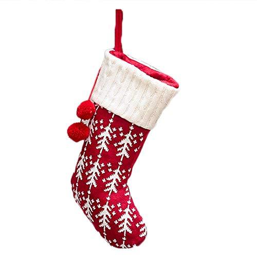 Falliback Weihnachtsstrümpfe aus Strick, weich, bequem, schön, praktisch, wiederverwendbar, langlebig, für Weihnachtskarten, Socken, für Kinder, Voisins, ré