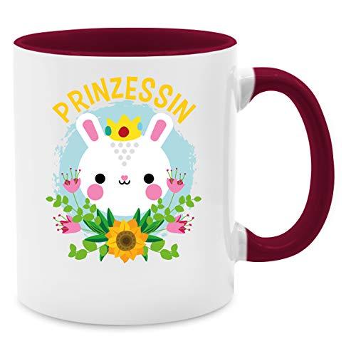 Statement Tasse - Prinzessin - Hase - Unisize - Bordeauxrot - Hase - Q9061 - Kaffee-Tasse inkl. Geschenk-Verpackung