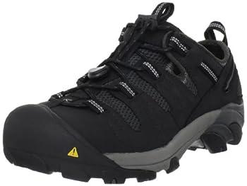 KEEN Utility Men's Atlanta Cool Steel Toe Work Shoe, 10 D US, Black/Black, 10D