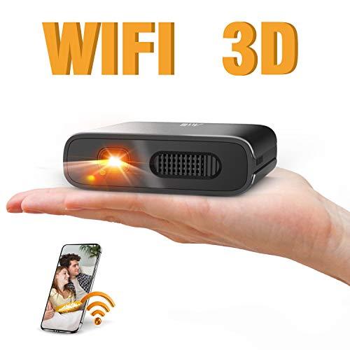 Artlii Mana - Videoprojecteur WiFi, Mini projecteur Portable, DLP pico...