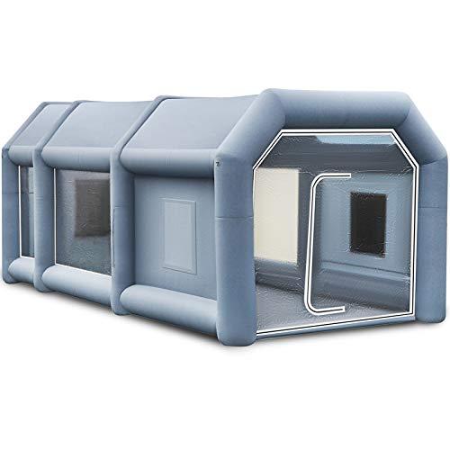 VEVOR Aufblasbares Zelt 19.7x9.8x8.2Ft Aufblasbare Sprühkabine Benutzerdefiniertes Zelt Aufblasbare Lackierkabine Zelt Autolackierkabine Riesige Workstation 210D Oxford Stoff mit 2 Gebläsen