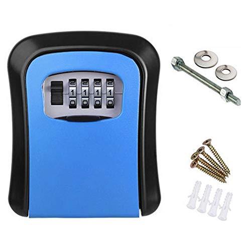 Caja de contraseña de Tarjeta de Llave,Caja de Llave,Bloqueo de contraseña,Caja de Llave de contraseña-Azul