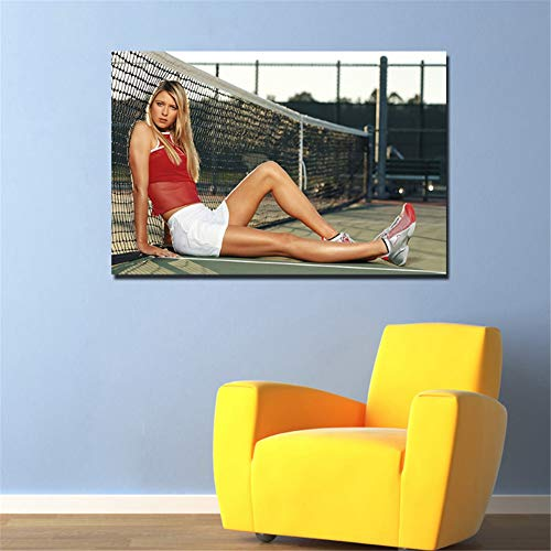 nr Maria Sharapova Tennis Mädchen Poster Leinwand Malerei Wandkunst Bilder Druck für Wohnzimmer Home Decor 60x90cm ungerahmt