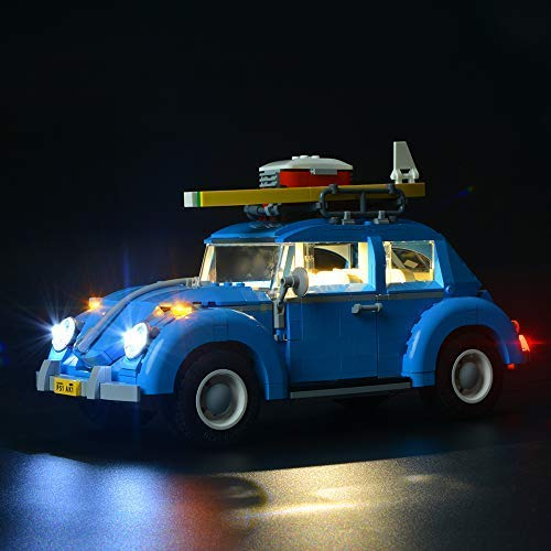 BRIKSMAX Kit de Iluminación Led para Volkswagen Beetle-Compatible con Ladrillos de Construcción Lego Modelo 10252 -Juego de Legos no Incluido